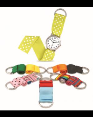 TD Kids Girls Interchangeable Ribbon Strap Watch