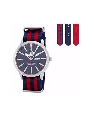 Beverly Hill Polo Club Gen ts Watch Blue Dial